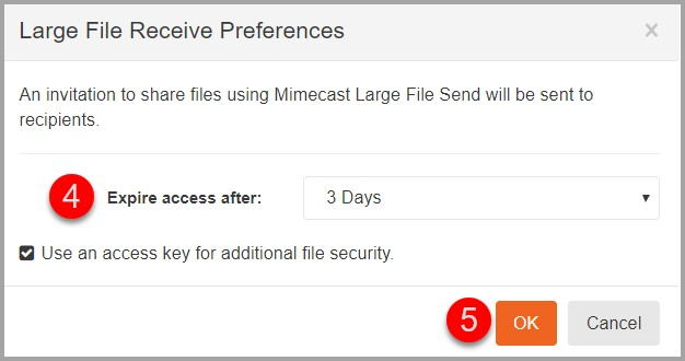 Mimecast Personal Portal: Requesting Large File Attachments